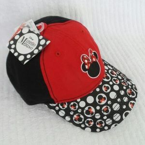 Women's DISNEY MINNIE MOUSE Baseball Hat RED BLACK